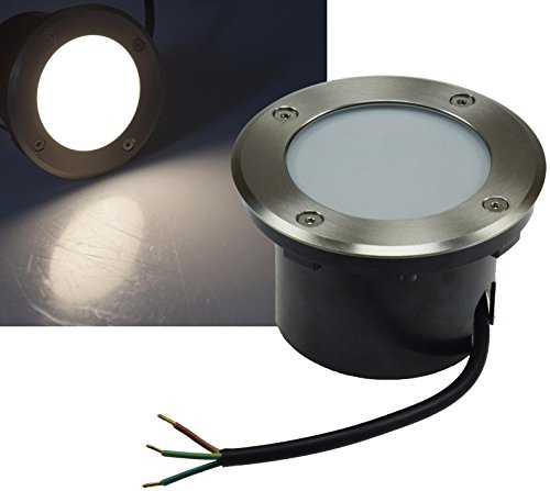 ChiliTec 22379 - Foco LED para suelo (empotrable, redondo, plano, 7 cm,...