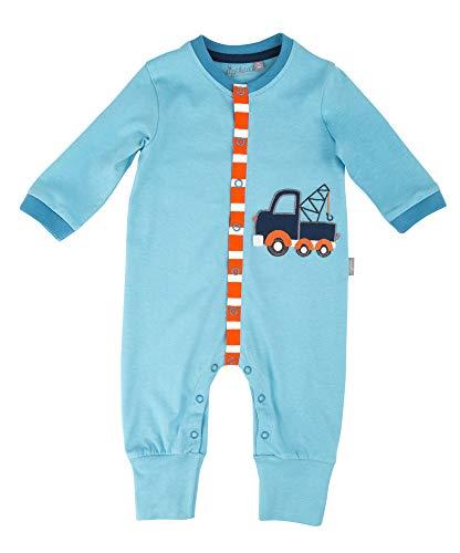 Sigikid Baby-Junge-Overall-Strampler-Schlafanzug Schlafstrampler, Blau (Air Blue 587), (Herstellergröße: 80)