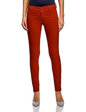 oodji Ultra Mujer Pantalones Stretch Estrechos