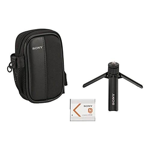 Sony ACC-CTBN Cyber-shot Starter-Kit (Akku, Kameratasche, aufklappbarem Stativ)