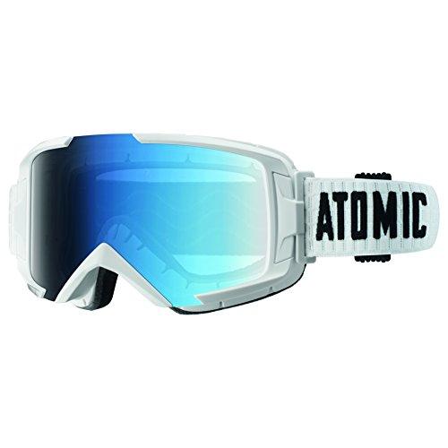 Atomic Damen/Herren Skibrille für Brillenträger, All-Wetter, Passform M, Live-Fit Rahmen, Oversized Look, Savor Photochromic, Blau/ Weiß, AN5105284