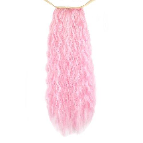 MapofBeauty Mode Damen lockige lange Pferdeschwanz Haar Erweiterungen (rosa) (Extension Perücke Rosa)