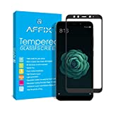 #9: AFFIX Full Glue Xiaomi Mi A2 Full Coverage 9H Tempered Glass, Full Edge-to-Edge 5D Screen Protector - Black