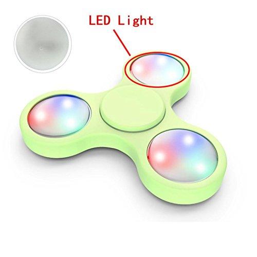 Preisvergleich Produktbild Tri-Spinner Fidget Spielzeug Accessories, Holeider LED Licht Für Fidget Hand Spinner Torqbar Finger Spielzeug EDC Focus Gyro 3PCS