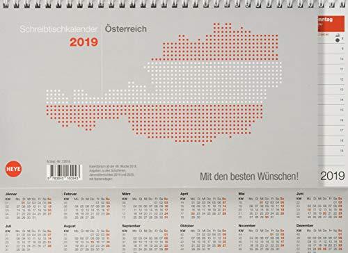Schreibtischkalender Österreich groß - Kalender 2019 (Stand Kalender)