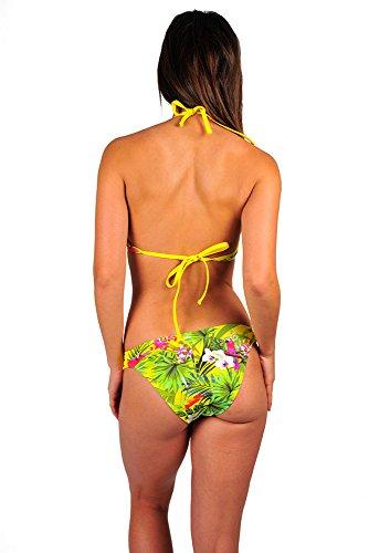 Bikini-Set 2-teilig Yucatan, mit Papageien-Print, in Gelb Multicolor