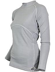 Raptor Hunting Solutions Mérinos Thermiques Dames Sous-vêtements Haut Chemise à Manches Longues Gris