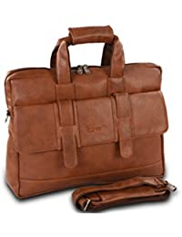 Easies 15inch Tan Foam File FF 1052,Synthetic Leather Bag.