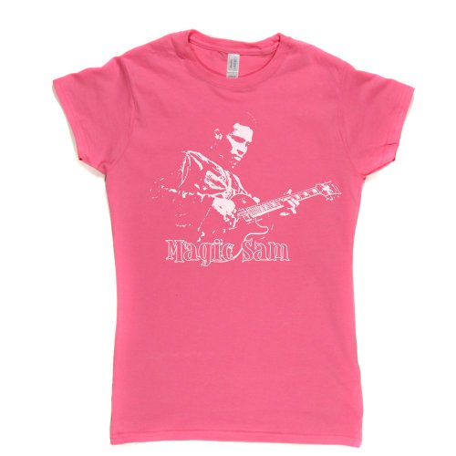 Magic Sam Womens Fitted T-Shirt Rosa