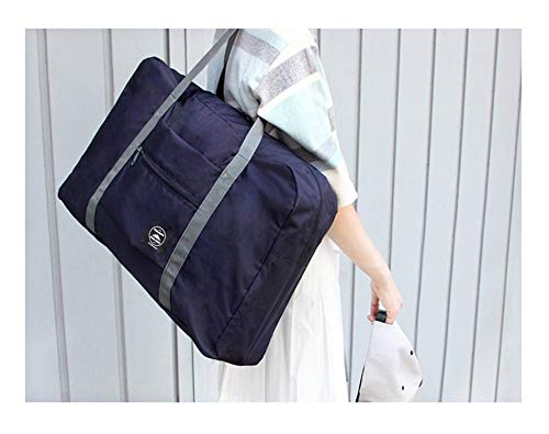 Seil, Stoff Handtaschen (Faltbare wiederverwendbare Einkaufstasche Einkaufstasche Einkaufstasche Faltbare Tasche, praktische Handtaschen, Reisetaschen, Schultertasche, wasserdicht, große Kapazität, Cowboy Blue, 48 x 32 x 16cm)
