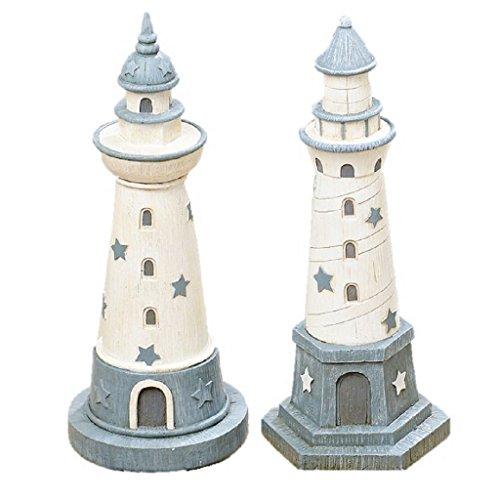 2er Set Spardose Leuchtturm 25cm hoch 2-fach sortiert Urlaub See Meer Sparbüchse -