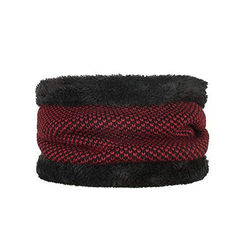 Quaan Unisex Solide Wolle Winter Warm Halsband Gestrickt Schal Weich Hals einzigartig Herbst Plaid Tartan Streifen Plaid Muster Übergroß Schal