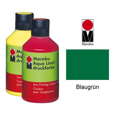 Marabu Aqua-Linoldruckfarbe, blaugr¸n, 250 ml VE = 1