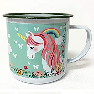 ARTEMODEL Taza Unicornio Verde Metal, Color (1)