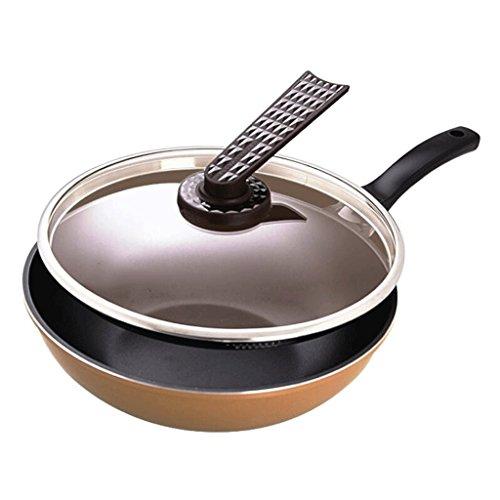 ZHAOJNG Non-stick Pot Inicio Wok Flat No Smoke Pan