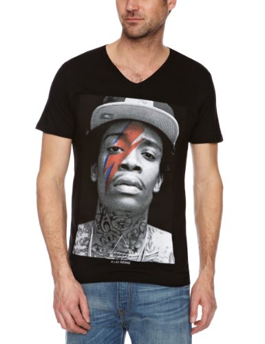 Eleven Paris Herren T-Shirts , VNeck Schwarz - Black