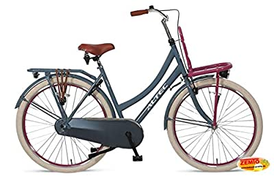 Hooptec Damen Hollandrad 28 Zoll Hoopetec Urban Transportfiets Grau-Pink 2019