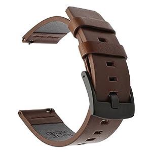 Für Samsung Gear S3 Frontier/Classic Armband, TRUMiRR 22mm Oily Leder Smart Uhrenarmband Quick Release Handschlaufe für Samsung Gear S3 Classic R770 & Frontier R760