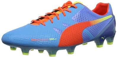 Puma  evoSPEED 1.2 SL FG, Chaussures de football homme - Bleu - Blau (sharks blue-fluro peach-fluo yellow 01), 43 EU