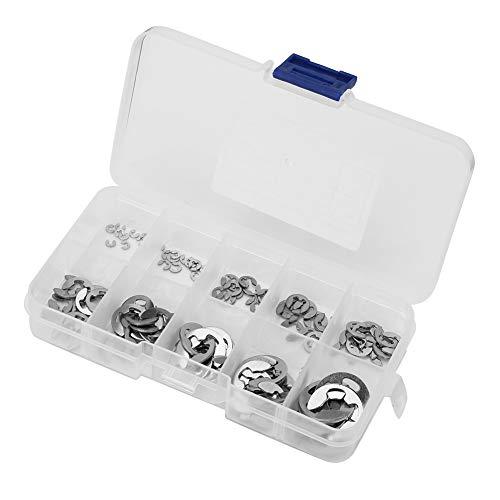 120304Edelstahl E-Clip Snap Ring Haltering Sicherungsring Set 1,5mm bis 10mm -