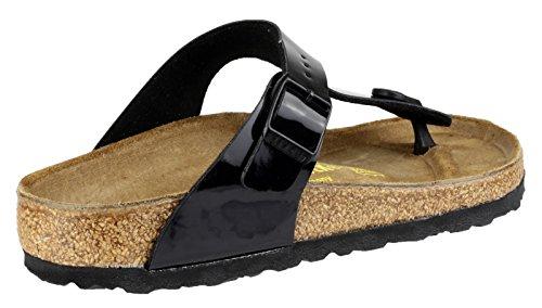 Birkenstock Plage de Gizeh Pat Blk Tpost Sandal Noir