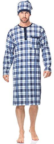 Cornette Herren Nachthemd mit Schlafmütze CR1102017 Muster-549605