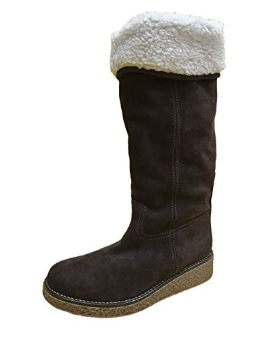 Max Mara Weekend Suede Boots with Synthetic Fur Brown and Light Brown (39, Brown)
