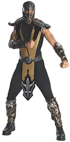 Ninja Adult Deluxe Kostüm - Rubie's Mortal Kombat Scorpion Kostüm Deluxe