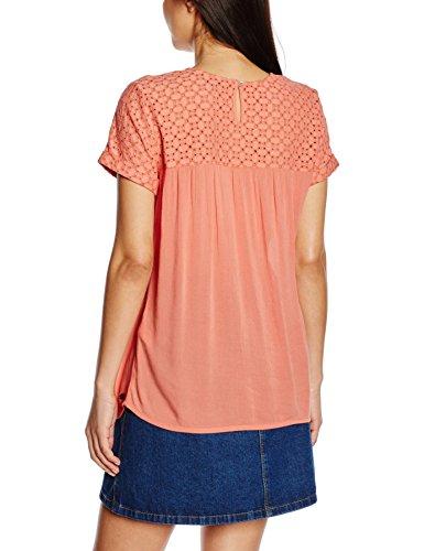TOM TAILOR Denim Damen Bluse Material Mixed Feminine Blouse Orange