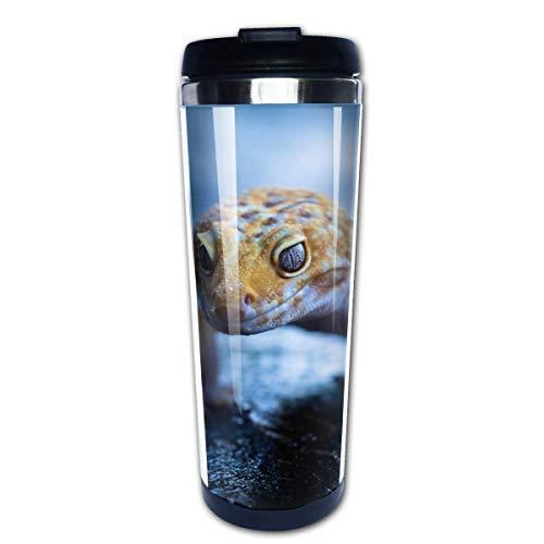 Bgejkos Reise-Kaffeetasse Gecko-Bild Isolierte 13,5 Unze Reise-Kaffeetasse für Frauen und Männer