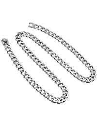 Theia Halskette Titan Curb poliertes 56 cm Länge
