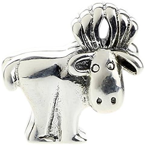 Beads Hunter in argento Sterling 925Jewelry Alaskan Moose Charm per braccialetti europei