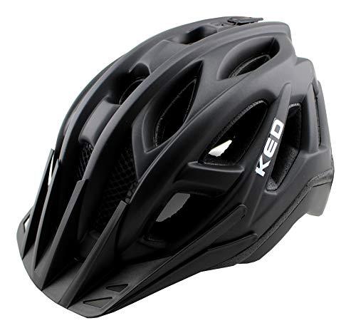 K-E-D Pylos Fahrradhelm für Jugendliche und Erwachsene - Allrounder-Helm in Robuster maxSHELL- Technologie, Quicksafe- und Quickstopp-System (M (Kopfumfang 52-58 cm), Black Matt)