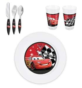 Vaisselle Cars enfant - Assiette, Couverts et verre Cars Disney