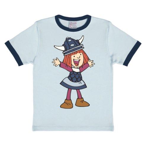 Logoshirt Camiseta para niño Vickie el Vikingo - Wickie der Wikinger - Camiseta con cuello redondo Azul Claro - Diseño original con licencia, talla 92/98, 2-3 años