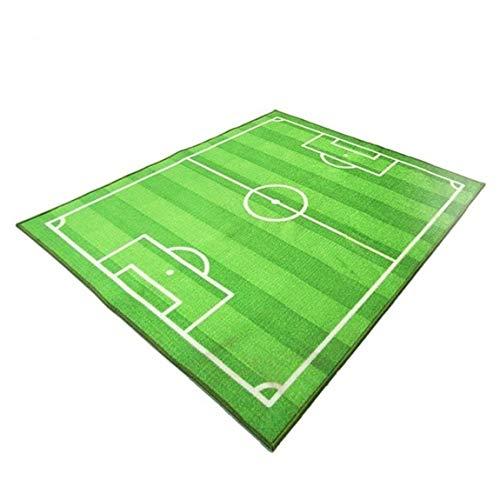 Fußball Fußballplatz Teppich Kinder Krabbeln Spielmatte Weiche Auflage Baby Kinder Decke Teppich Teppich Wohnzimmer Schlafzimmer Innen, Grün (größe: 800 * 1200mm (Baby-decke Fußball)
