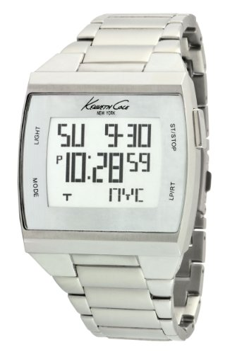 Kenneth Cole Mens Touch Screen Watch KC3911 with Grey Dial and Silver Stainless Steel Strap