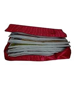 Kuber Industries™ 12 Sarees Bag, Saree Cover, 1 Bag for Keeping 12 Sarees,Wedding Collection, Diwali Gift