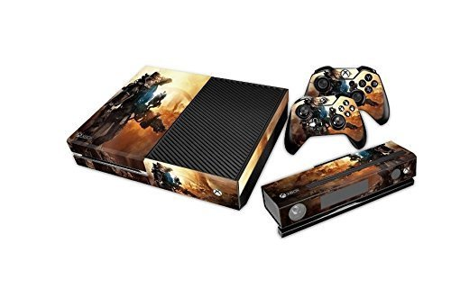 Free Decals (Designer Skin Sticker Decal for Xbox One Console with Two Free Wireless Controller Decals Titanfall by Backside (0100-01-01j)