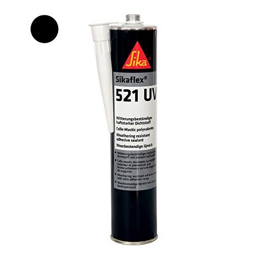 Sikaflex-521 UV,  Witterungsbeständiger haftstarker Dichtstoff, 300ml, Schwarz