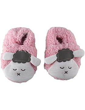 QHGstore Jedes Kleinkind Baby Slipper Schaftstiefel warme weiche Kufe Prewalker Sneaker Krippe Schuhe 12cm grau