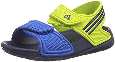 adidas - Chanclas de material sintético para niño flash pink s15/night flash s15/semi solar yellow