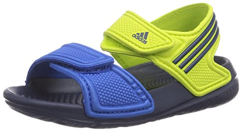 adidas, Ciabatte da spiaggia bambini flash pink s15/night flash s15/semi solar yellow, Multicolore (Mehrfarbig (Semi Solar Yellow/Collegiate Navy/Bright Royal)), 23