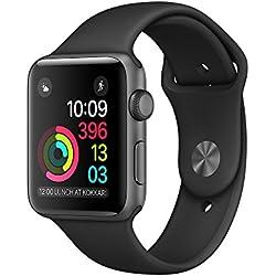 Apple Watch Series 1 OLED Gris reloj inteligente - Relojes inteligentes (OLED, Pantalla táctil, Wifi, 18 h, 25 g, Gris)