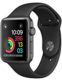 Apple 38 mm Series 1 Smart Watch with Black Sport Band - Space Grey