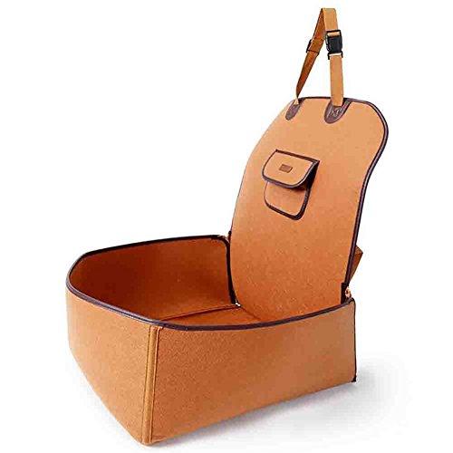 Autositz Für Haustier Abriebfest Hund Sitzbezug Hunde Autoschondecke(45*45*60),Brown