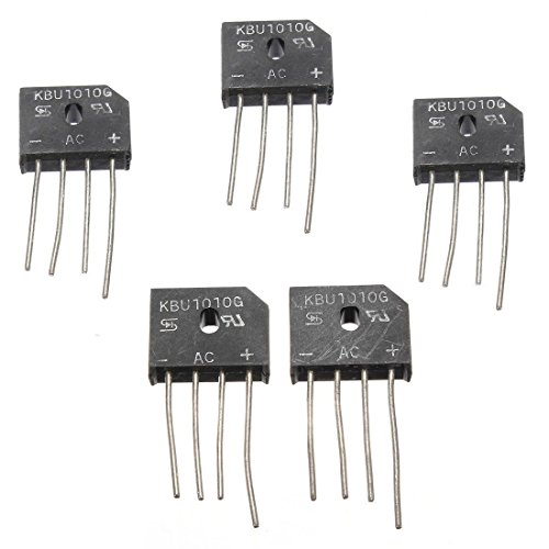 10pcs KBPC5010 50A 1000V Single Phase Diode Full Bridge Rectifiers High-Power Metal Case Current Conversion Module