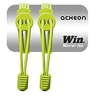 Acxeon Elastic No Tie Shoelaces For Running & Triathlon (Green)
