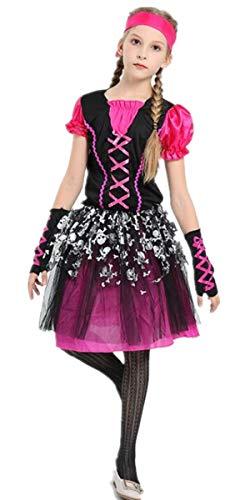 Pirat kostüm für Kinder Mädchen - Rustikale Maiden Seeräuber Schicken Kleid Aus der Karibik Rover Rock (Rustikale Piraten Kostüme)