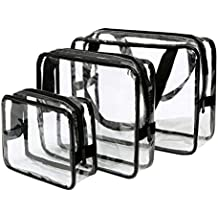 Eono Essentials Toiletry Bags Gift Makeup Bags & Cases Plastic Bag Clear PVC Travel Bag Brushes Organizer for Men and Women Travel Business Bathroom